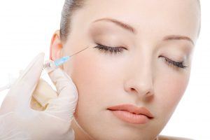 injection of botox in the female eye